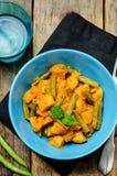 Curry de las patatas de las habas verdes del coco Fotos de archivo