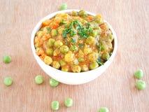 Curry de los guisantes Foto de archivo