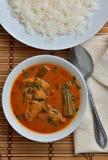 Curry de los pescados de la broma de Trevally Imágenes de archivo libres de regalías