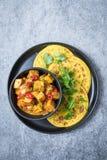 Curry de Malai Paneer imagenes de archivo