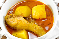 Curry de Mussaman del pollo Fotografía de archivo libre de regalías