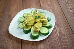 Curry de porc aux concombres Stock Image