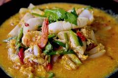Curry dei frutti di mare Immagini Stock