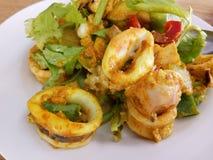 Curry del calamar Foto de archivo