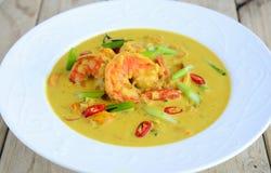 Curry del camarón fotografía de archivo libre de regalías