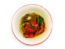Curry del cangrejo aislado Foto de archivo