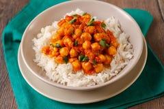 Curry del cece Fotografia Stock Libera da Diritti