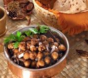 Curry del cece con Roti Fotografie Stock Libere da Diritti
