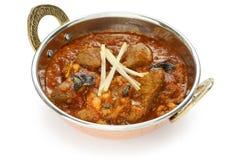 Curry del cordero, alimento indio fotos de archivo libres de regalías