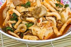 Curry del fungo fotografie stock