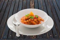 Curry del garbanzo Foto de archivo libre de regalías