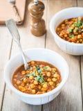 Curry del garbanzo del vegano Imagen de archivo