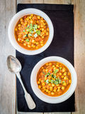 Curry del garbanzo del vegano Imagen de archivo libre de regalías