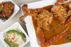 Curry del granchio di Goan Fotografia Stock