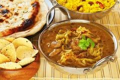 Curry del indio de Dhansak del cordero fotografía de archivo