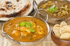 Curry del indio del pollo de la mantequilla foto de archivo libre de regalías