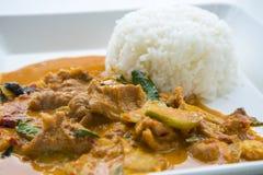 Curry del panang della carne di maiale Fotografie Stock Libere da Diritti