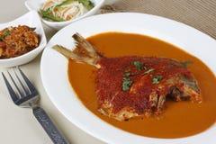 Curry del pesce del curry o di Goan dei pesci castagna di Goan Immagine Stock