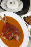 Curry del pesce del curry o di Goan dei pesci castagna di Goan Immagini Stock