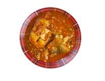 Curry del pesce del Kerala Fotografia Stock