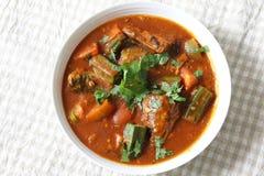 Curry del pesce della sardina Fotografie Stock Libere da Diritti