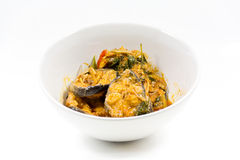 Curry del pesce gatto. Fotografia Stock