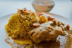 Curry del pollo Fotografie Stock Libere da Diritti