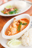 Curry del pollo in ciotola bianca Alimento tailandese - frittura #6 di Stir Immagine Stock Libera da Diritti