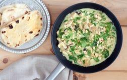 Curry del pollo del coco Fotografía de archivo
