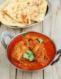 Curry del pollo con naan Imagen de archivo libre de regalías