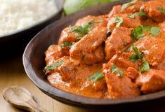 Curry del pollo de la mantequilla Foto de archivo libre de regalías