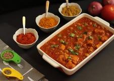 Curry del pollo dei ceci immagine stock