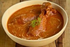 Curry del pollo del burro Fotografia Stock