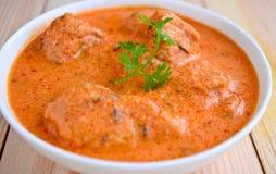 Curry del pollo del burro Immagine Stock Libera da Diritti