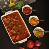 Curry del pollo di Chickenpeas fotografia stock