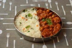 Curry del pollo di Chickenpeas immagini stock libere da diritti