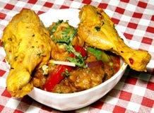 Curry del pollo y piernas de pollo Foto de archivo libre de regalías