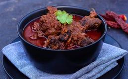 Curry del rojo del cordero de Laal Mosa foto de archivo