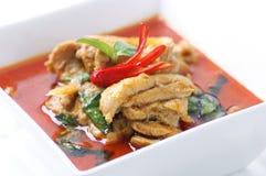 Curry del rojo del pollo. Foto de archivo libre de regalías