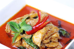 Curry del rojo del pollo. Fotografía de archivo libre de regalías