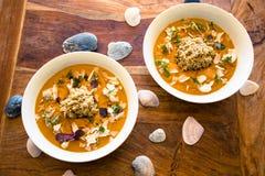 Curry del vegano con la quinoa Fotos de archivo libres de regalías