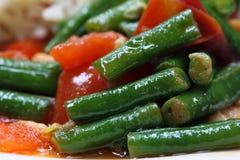 Curry delicioso de la haba larga de la yarda foto de archivo libre de regalías