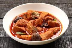 Curry delicioso y picante de los pescados del rey imagen de archivo