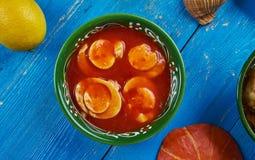 Curry dell'uovo di Koni Anja di assamese Fotografia Stock Libera da Diritti