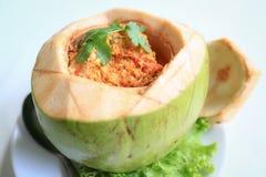 Curry della noce di cocco Fotografie Stock