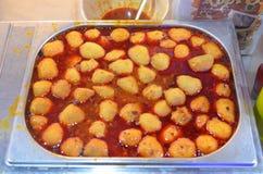 Curry della palla di pesce immagine stock