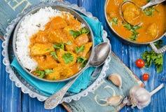 Curry della zucca con il pollo Immagini Stock Libere da Diritti