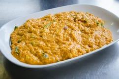 Curry di scalpore del granchio della carne Immagine Stock