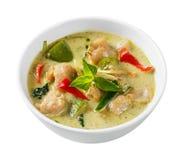 Curry di verde della palla di knifefish del pagliaccio Immagini Stock Libere da Diritti