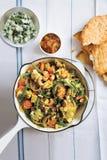 Curry di verdure della quinoa Fotografia Stock